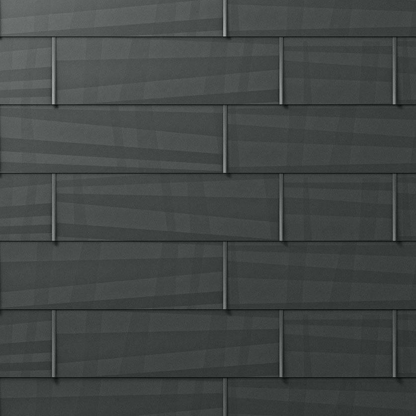 Dacheindeckung Steildach: Metallschindel (Detailaufnahme)