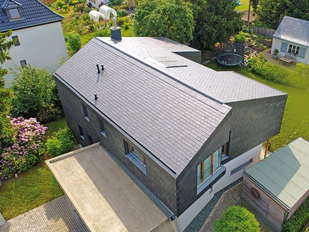 Dacheindeckung Steildach: Schiefer (Anwendungsbeispiel)